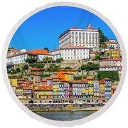 Oporto Riverfront Round Beach Towel