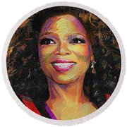 Oprah Round Beach Towel