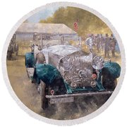 Opulence At Althorp Round Beach Towel