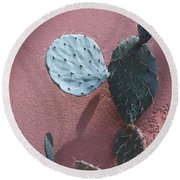 Opuntia  Round Beach Towel