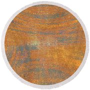 Orange And Gray Abstract Round Beach Towel