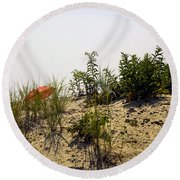Orange Beach Umbrella  Round Beach Towel
