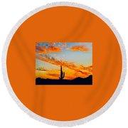 Orange Blossom Moments Round Beach Towel