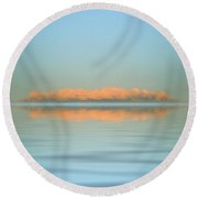 Orange Fog Round Beach Towel