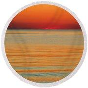 Orange Glow Round Beach Towel