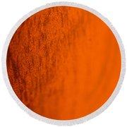Orange Gradient Round Beach Towel