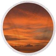 Orange Insanity Sunset Venice Florida Round Beach Towel