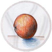 Orange Round Beach Towel