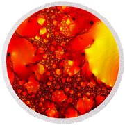 Orange Peel Round Beach Towel