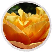 Orange Rose Art Prints Baslee Troutman Round Beach Towel