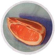 Orange Slice 2 Round Beach Towel