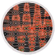 Orange Sweet Chilli Peppers Round Beach Towel