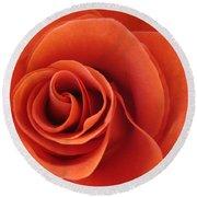 Orange Twist Rose 5 Round Beach Towel