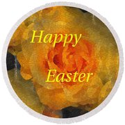 Orange You Lovely Easter Round Beach Towel