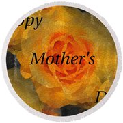 Orange You Lovely Mothers Day Round Beach Towel