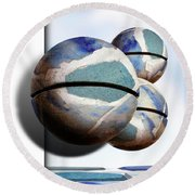 Orbiting Out Round Beach Towel