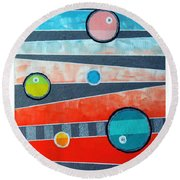 Orbs On Planes #2 Round Beach Towel