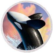 Orca 1 Round Beach Towel