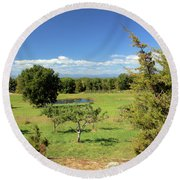 Orchard 1 H Round Beach Towel