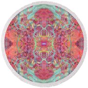 Orchard Interface  Round Beach Towel
