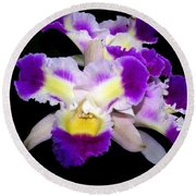 Orchid 13 Round Beach Towel