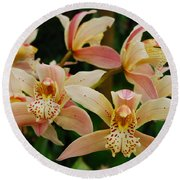 Orchid 255 Round Beach Towel
