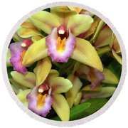 Orchid 7 Round Beach Towel