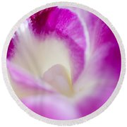 Orchid Abstract Round Beach Towel