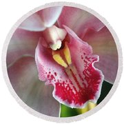 Orchid Dust Round Beach Towel