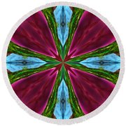 Orchid Frenzy Round Beach Towel