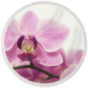 orchid III Round Beach Towel