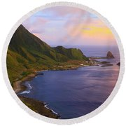 Orchid Island Round Beach Towel