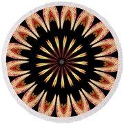 Orchid Kaleidoscope 3 Round Beach Towel