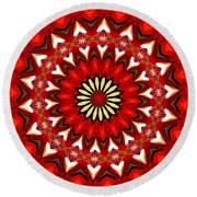 Orchid Kaleidoscope 9 Round Beach Towel