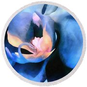 Orchid Lullaby Round Beach Towel