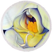 Orchid Mouth Round Beach Towel