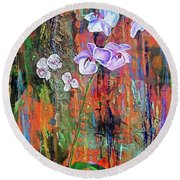 Orchid O Round Beach Towel