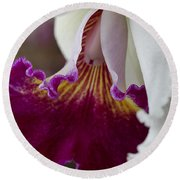 Orchid Ruffle Round Beach Towel