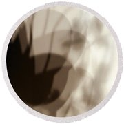 Orchid Shadow 1 Round Beach Towel