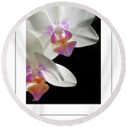 Orchid Underneath Poster Round Beach Towel