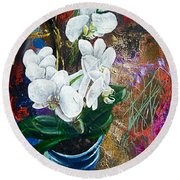 Orchid You Round Beach Towel