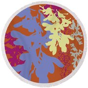 Orchids Caramel Round Beach Towel