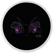 Orchids In Neon Round Beach Towel