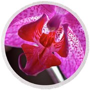 Orchid's Tongue Round Beach Towel