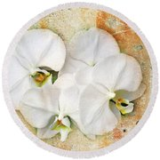 Orchids Upon The Rough Round Beach Towel