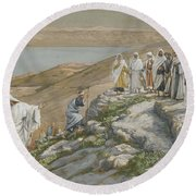 Ordaining Of The Twelve Apostles Round Beach Towel by Tissot