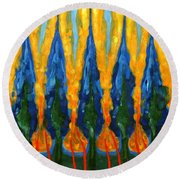 Ordinary West Of Sun Round Beach Towel