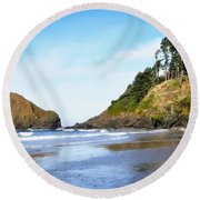 Oregon - Beach Life Round Beach Towel