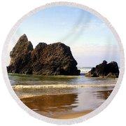 Oregon Coast 10 Round Beach Towel