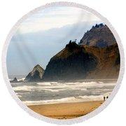 Oregon Coast 12 Round Beach Towel